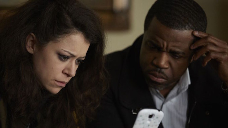 """Orphan Black 4x09 """"The Mitigation of Competition"""" television review Rachel Art Sarah"""