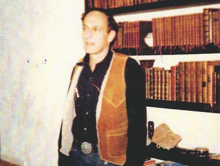 Roger Zelazny in his Santa Fe Home (1982)