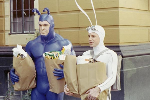 Patrick Warburton and David Burke as The Tick and Arthur