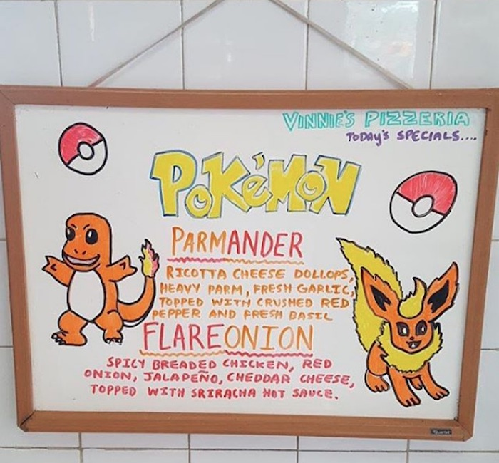 Vinnie's Pizza Charmander