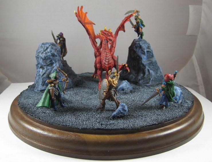 Django Wexler Dragon Diorama