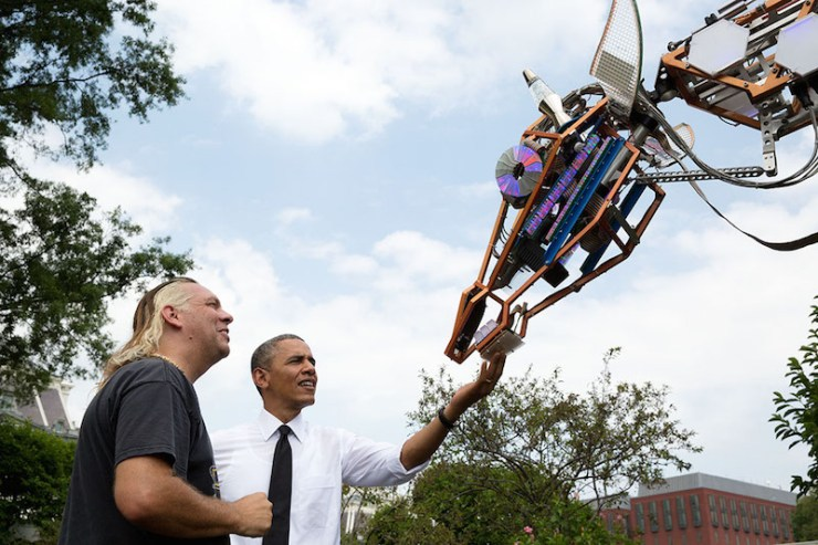 White House Maker Faire Barack Obama giraffe