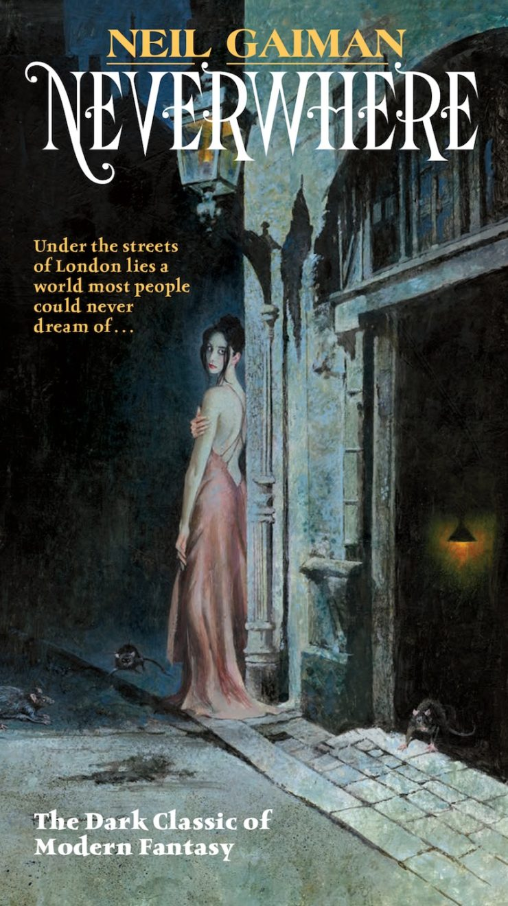 Neverwhere retro cover by Robert E. McGinnis