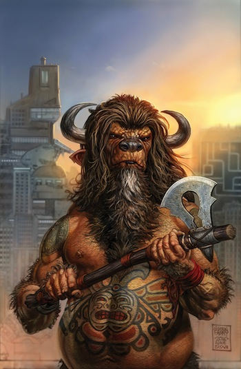 American Gods comic cover by Glenn Fabry, Adam Brown