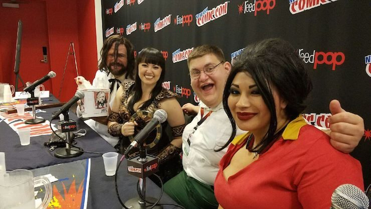 Ivy Doomkitty, Robert Franceze, Bernadette Bentley, and David Baxter NYCC 2016