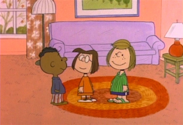 Peppermint Patty, Marcie, and Franklin