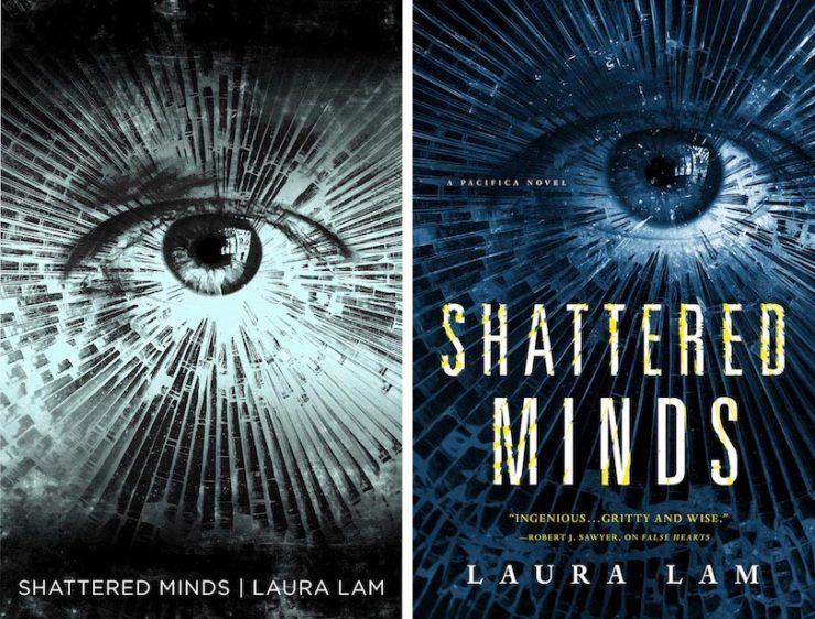 UK cover (left) designed by Neil Lang; US cover (right)