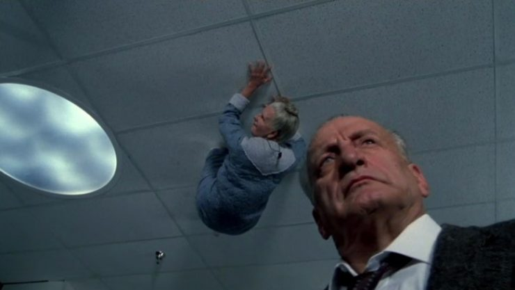 The second freakiest moment in the film.