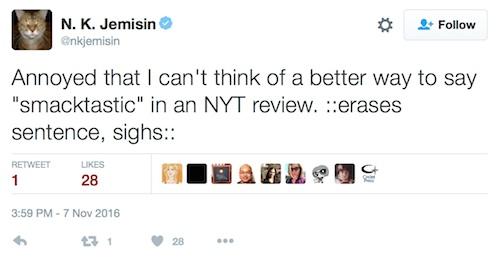 N.K. Jemisin tweet