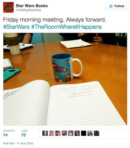 Star Wars Del Rey, book meeting