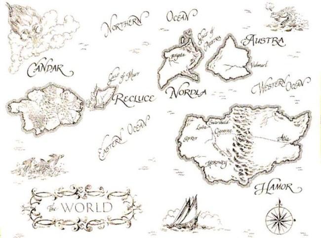 Recluce world map Candar Hamor Audra Nordla L.E. Modesitt Jr.