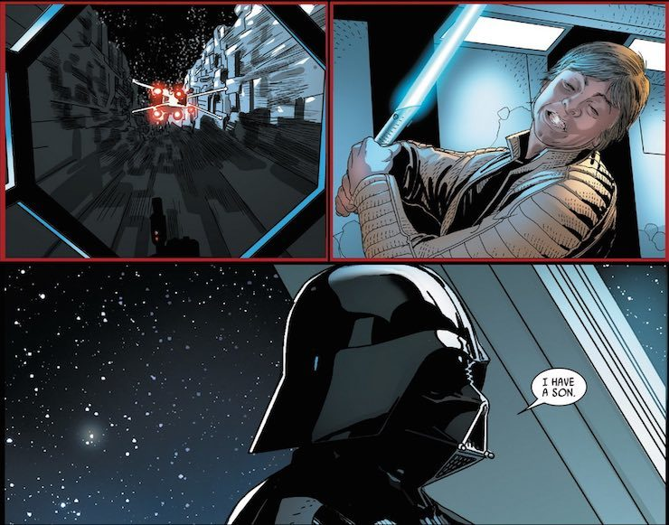Darth Vader comic Boba Fett Luke Skywalker