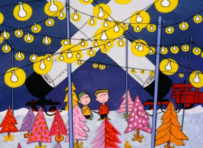 dont you want one of those trees i want all of those trees and i mean sure i want the little scrappy one too but maybe to plant in the backyard - Christmas Tree Charlie Brown