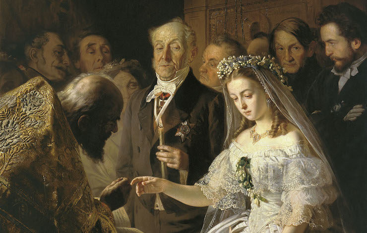 """Selection from """"The Unequal Marriage"""" by Vasili Pukirev, c.1860"""