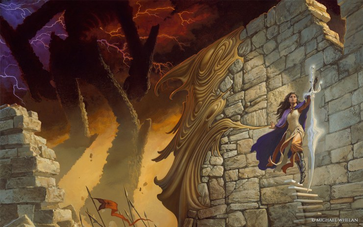 Oathbringer by Brandon Sanderson full cover art by Michael Whelan