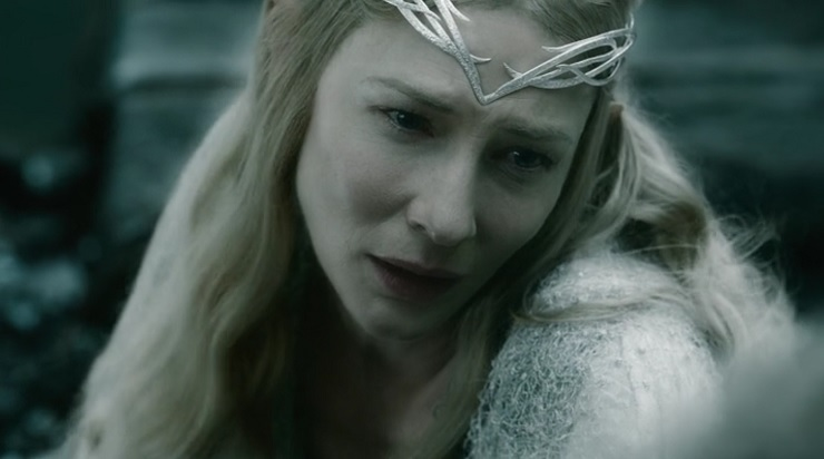 Galadriel Cate Blanchett mournful