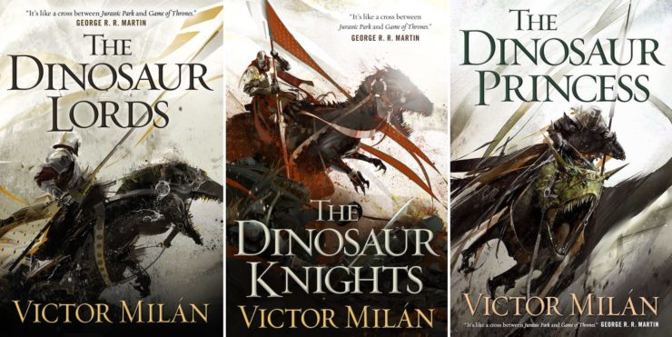 Richard Anderson Victor Milan Dinosaur Lords series book covers