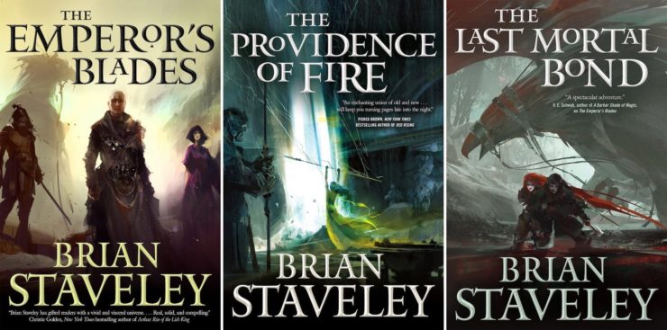 Richard Anderson Brian Staveley book covers The Chronicle of the Unhewn Throne