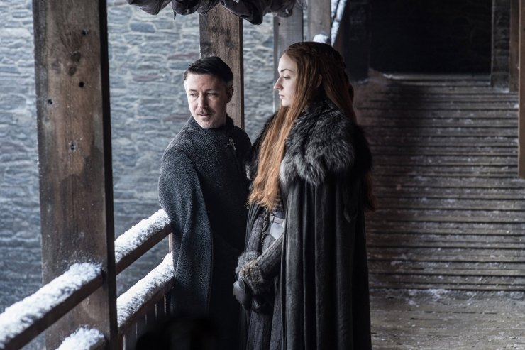 Game of Thrones season 7 photos Littlefinger Sansa Stark