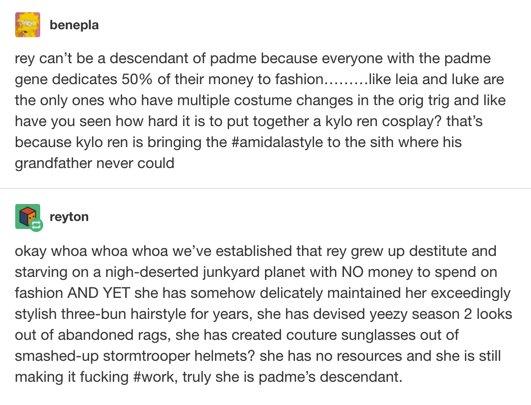 Tumblr Rey theory, fashion, Star Wars
