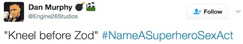 Twitter, hashtag, #NameASuperheroSexAct
