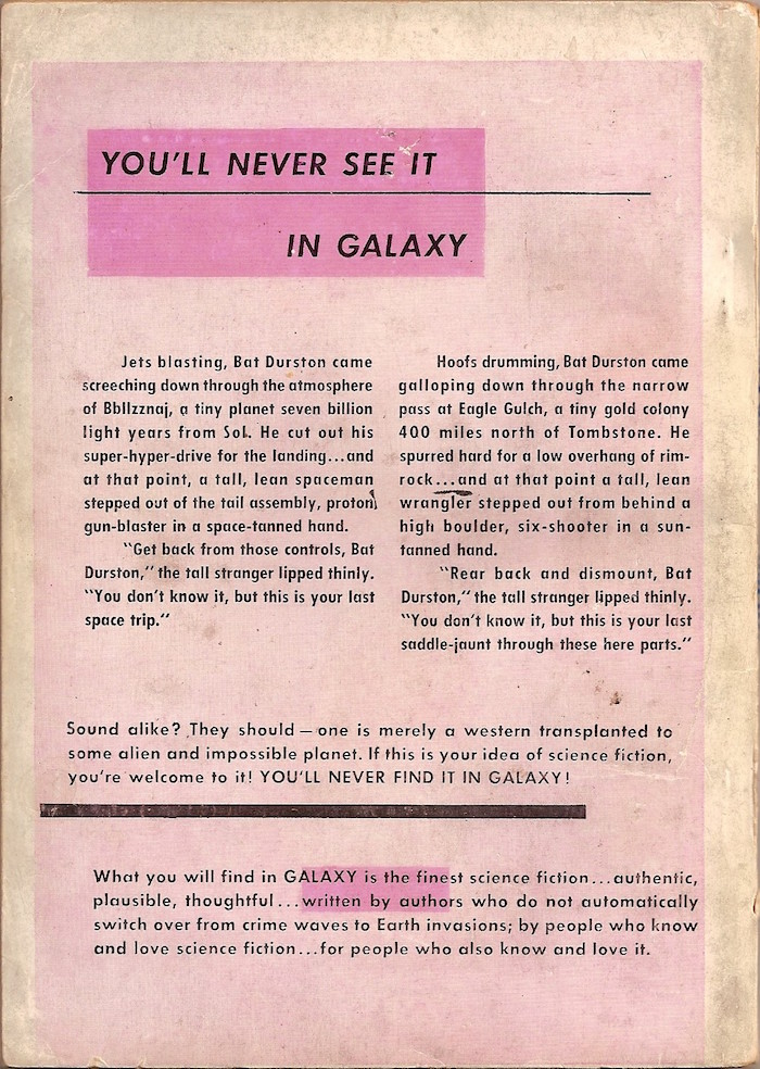 Galaxy Science Fiction, first issue, 1950