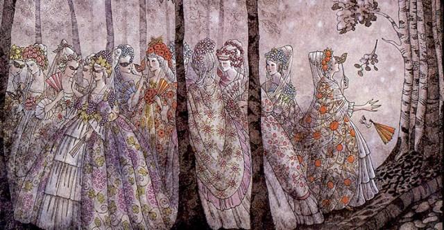 Enchantment Death And Footwear The Twelve Dancing Princesses