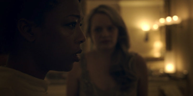 "The Handmaid's Tale 1x08 ""Jezebels"" television review Moira Samira Wiley"