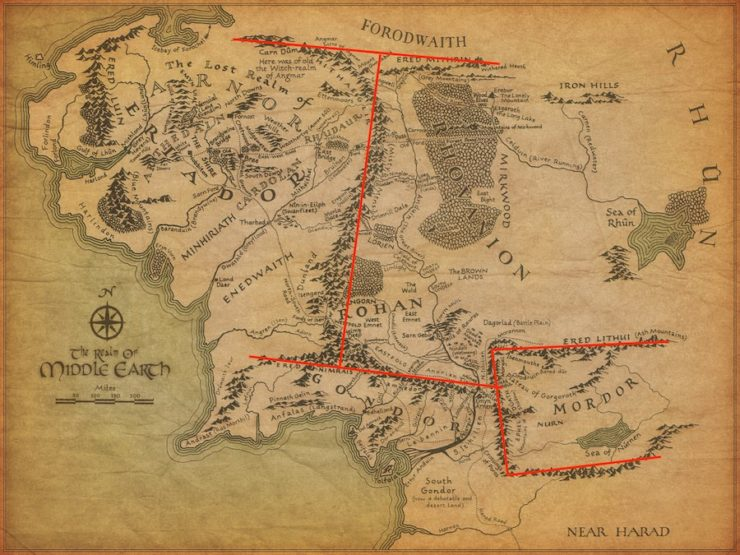 Tolkien\'s Map and The Messed Up Mountains of Middle-earth ...