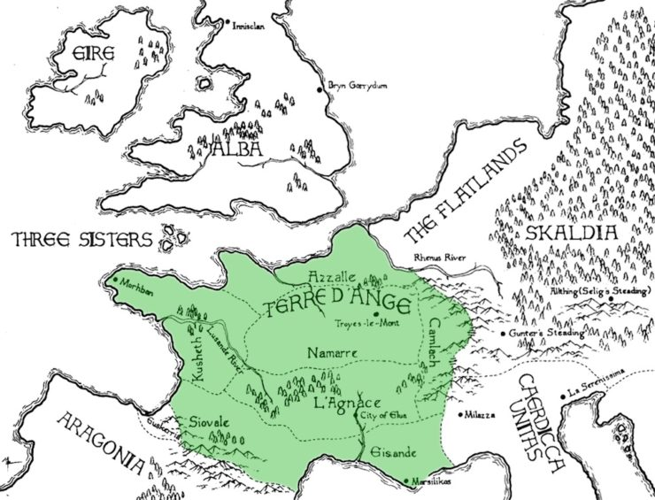 Terre d'Ange map Ellisa MItchell Kushiel's Dart
