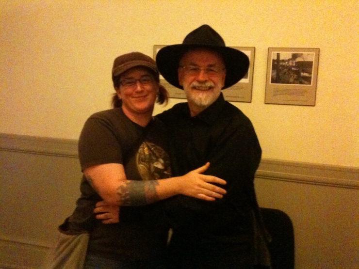 Lish McBride Terry Pratchett hug meeting in person fan story