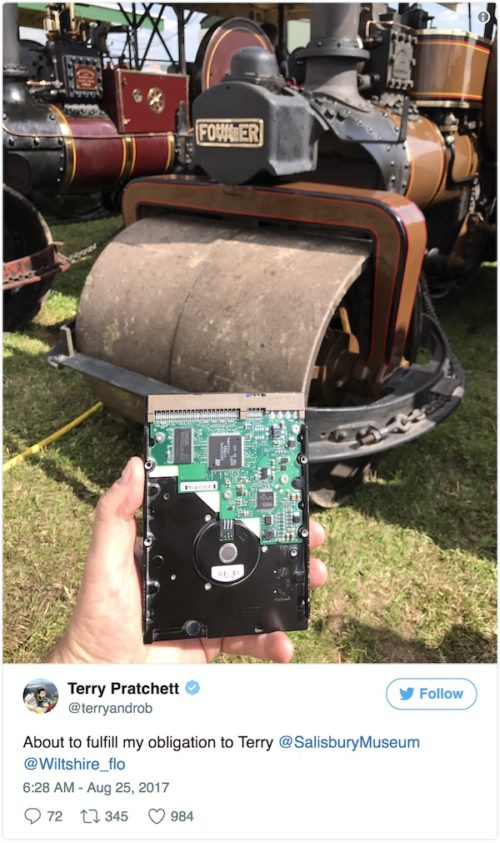 Terry Pratchett's hard drive