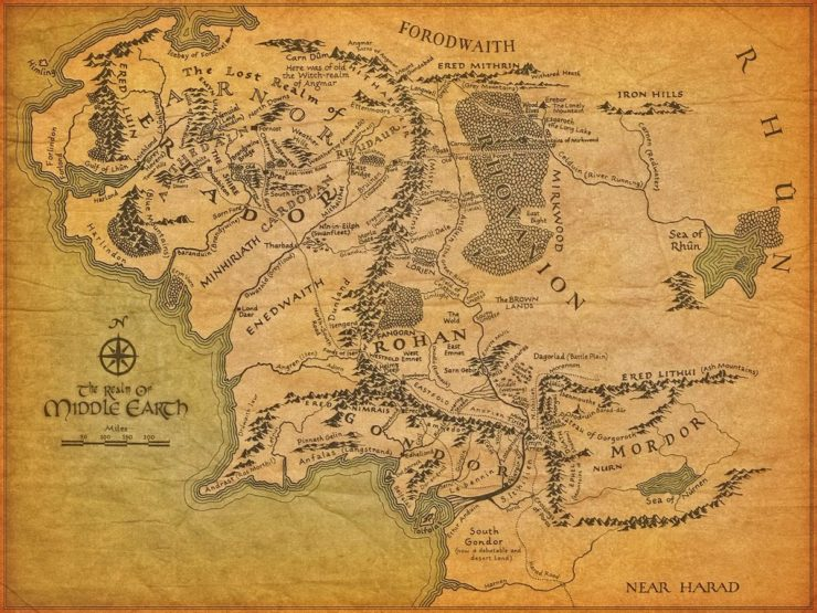 Tolkien's Map and the Perplexing River Systems of Middle earth