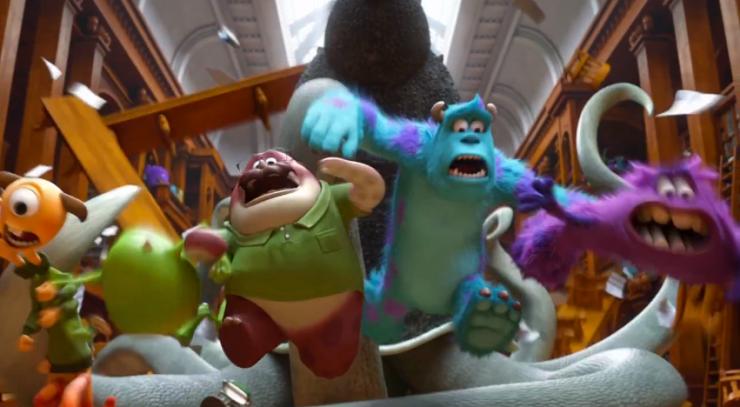 Pixar Rewatch Monsters University prequel Monsters Inc. librarian