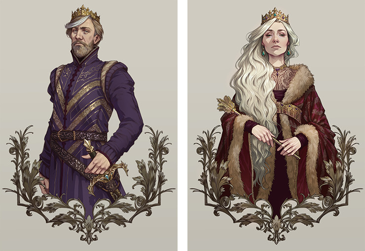 Simon and Miriamele by Djamila Knopf