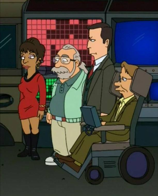 Vice Presidential Action Rangers Futurama Stephen Hawking