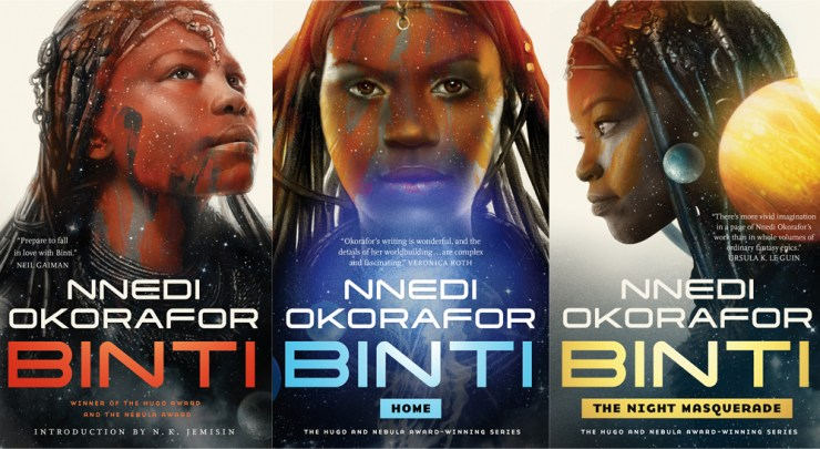 Binti trilogy hardcover edition Nnedi Okorafor cover reveal Tor.com Publishing