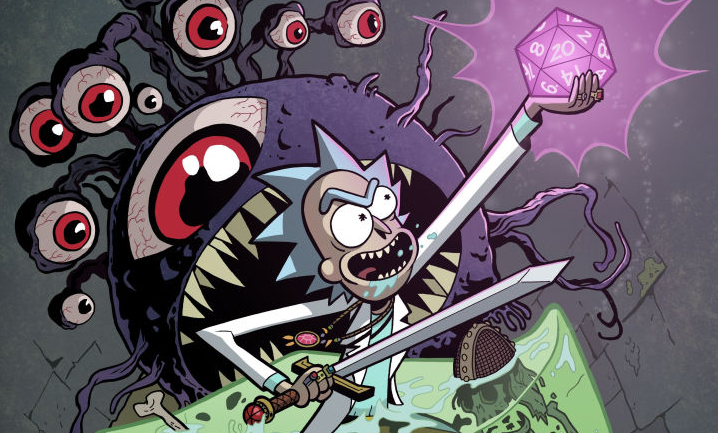 Rick and Morty vs. Dungeons & Dragons crossover comic Patrick Rothfuss Jim Zub