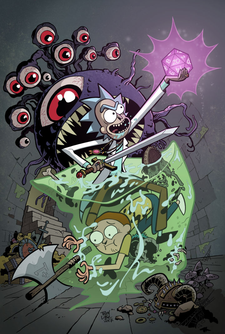 Rick and Morty vs. Dungeons & Dragons comic book crossover Patrick Rothfuss Jim Zub