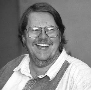 Photograph of Gardner Dozois at ClarionWest in 1988 by Ellen Levy Finch