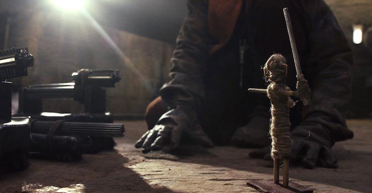 Closeup of Jedi toy seen in Star Wars: The Last Jedi