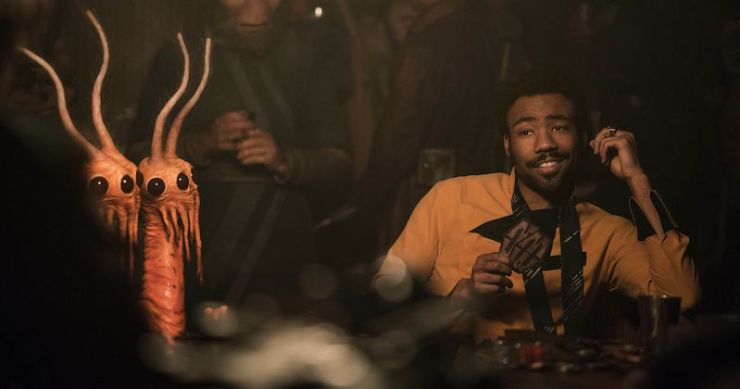 Donald Glover Lando Calrissian Han name pronunciation Solo: A Star Wars Story Easter eggs