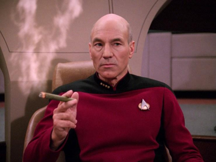 Star Trek: TNG, Picard, cigar