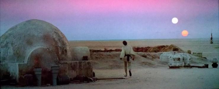 Star Wars, A New Hope, binary sunset