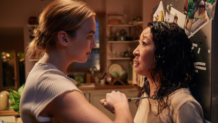 non-SFF TV we love Killing Eve Villanelle Sandra Oh Jodie Comer