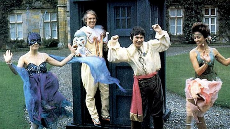 The Fifth Doctor and companions
