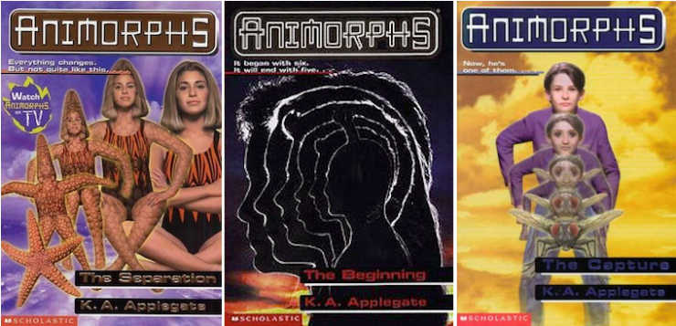 Animorphs covers 90s Photoshop morphing cheesy