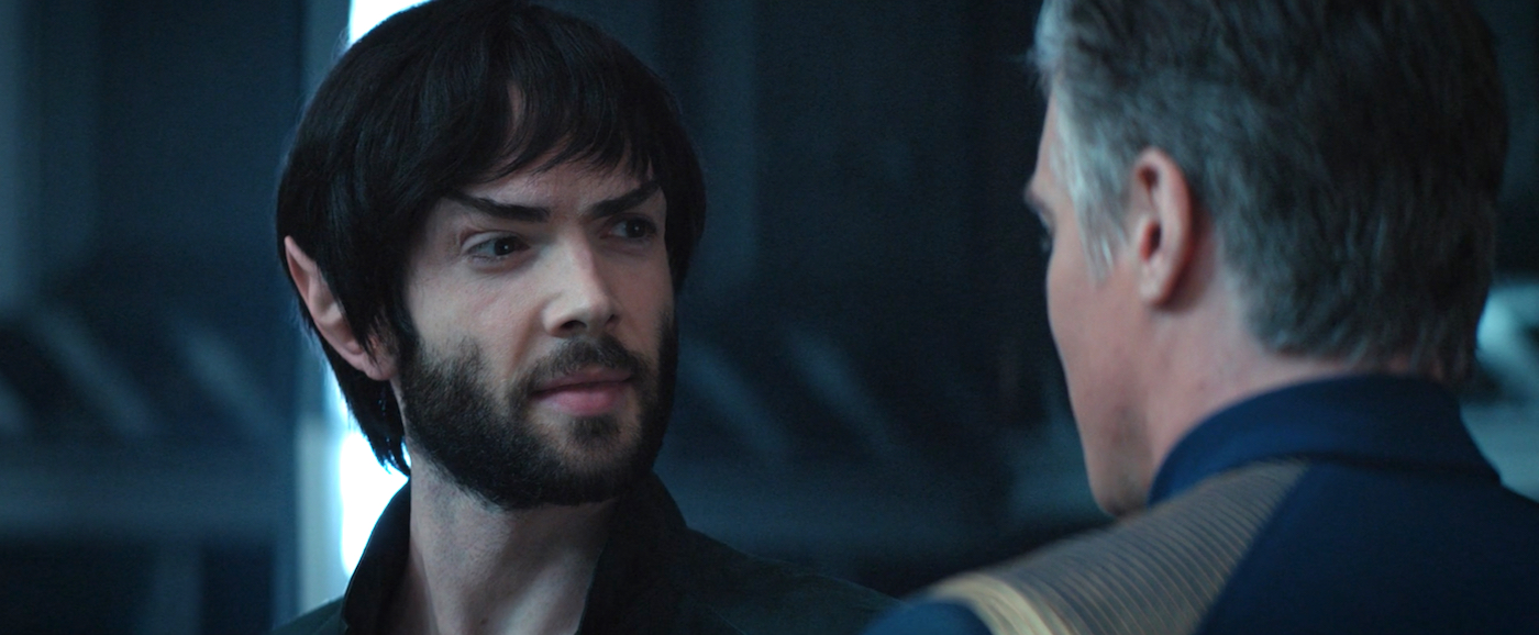 Spock and Pike Star Trek Discovery If Memory Serves