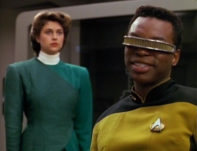 Star Trek The Next Generation Booby Trap Geordi Leah Brahms