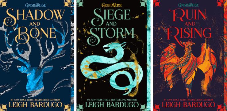 Grisha trilogy paperback covers